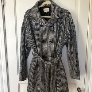 LOFT herringbone coat